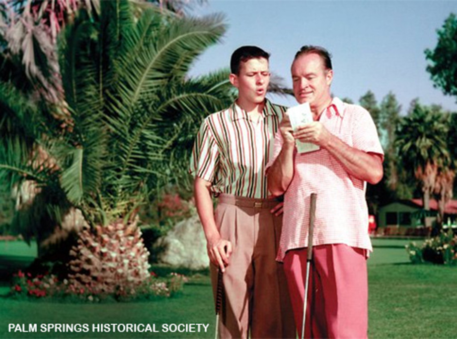 Bob Hope and son Tony playing at O'Donnell Golf Club